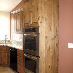 Alder Cabinets Kitchen Industrial Hoods Stainless Steel Knotty Bead Board Island