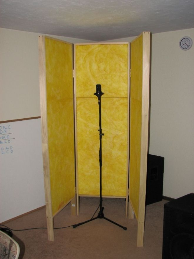 Diy gobo vocal booth music production pinterest