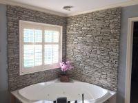 Stunning Corner Bathtub Wall Surround | Building My House ...