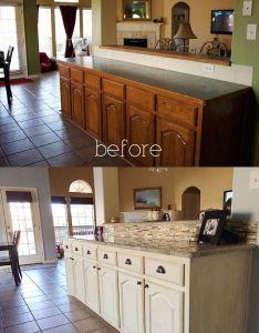 kitchen diy antique glaze cabinets kashmir granite glass stone backsplash white glazed also rh pinterest