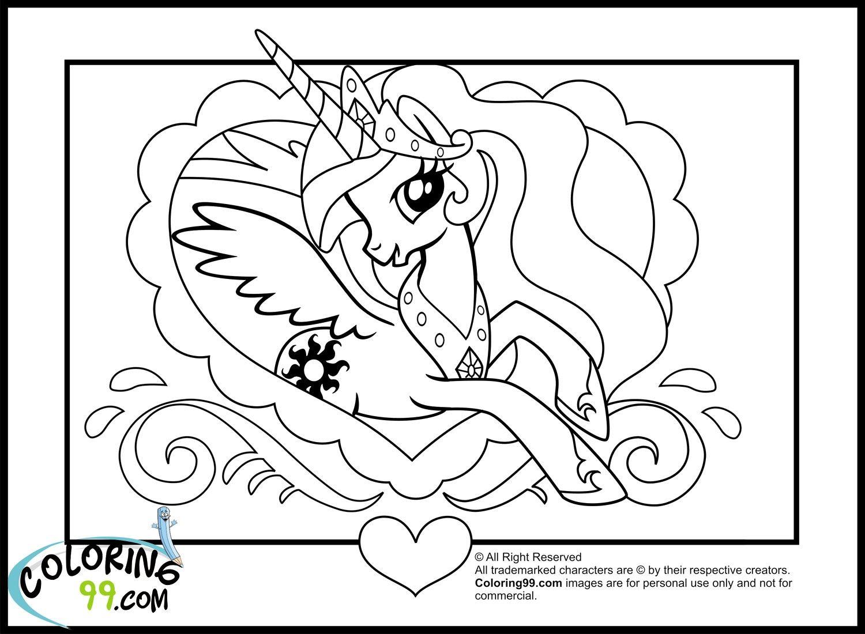 My Little Pony Princess Celestia Coloring Book Friendship Is Magic