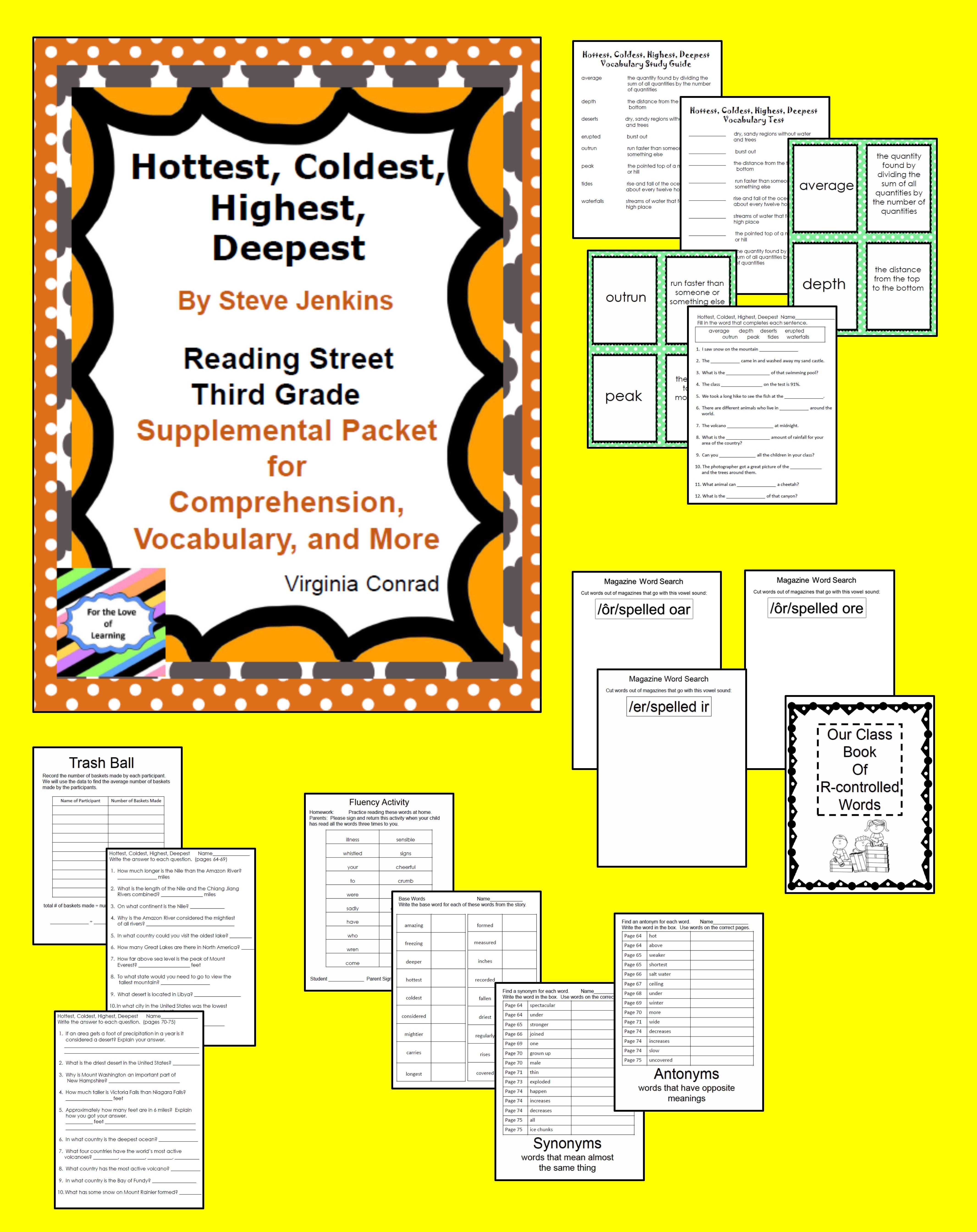 Hottest Coldest Highest Deepest Supplemental Pack Reading Street Third Grade
