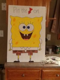 Pin the tie on Spongebob party game | Party Themes ...