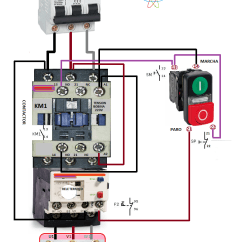Square D 3 Phase Motor Starter Wiring Diagram Brake Light Switch Electrical Diagrams: Connection | Electryc And Instrumen Control Pinterest ...