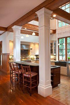 Kitchen Islands With Pillars Kitchens With Columns Design Ideas