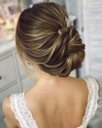 This beautiful chignon twist updo wedding hairstyle ...
