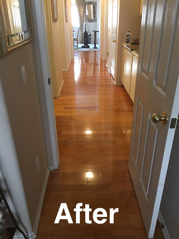 After Polishing My Hardwood Floors using Holloway House