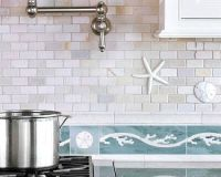 Beach Glass Tile Backsplash | Tile Design Ideas