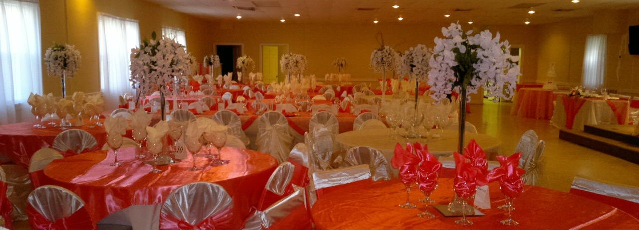 Coral and Champagne wedding  Table Venue Designs