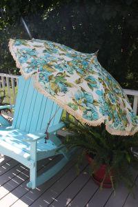 Vintage Mid Century Modern Patio Umbrella Portable For ...
