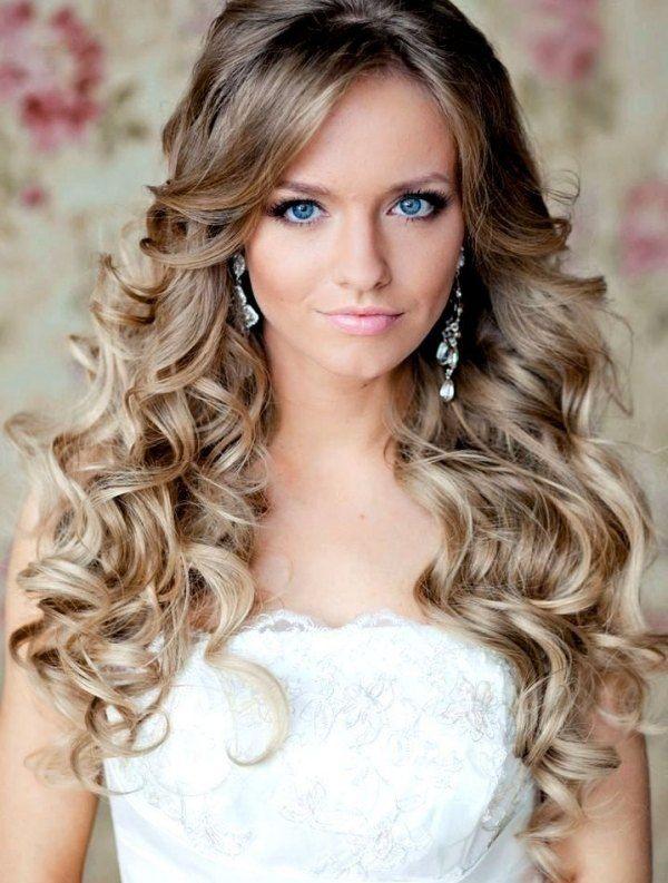 Offenes Haar In Locken Gelegt Frisur Ideen Hochzeit Hairstyle