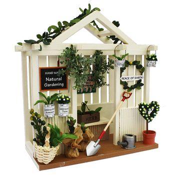 garden dollhouse kit miniature