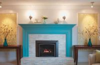 painting brick fireplace color ideas photos 11 | Kitchen ...