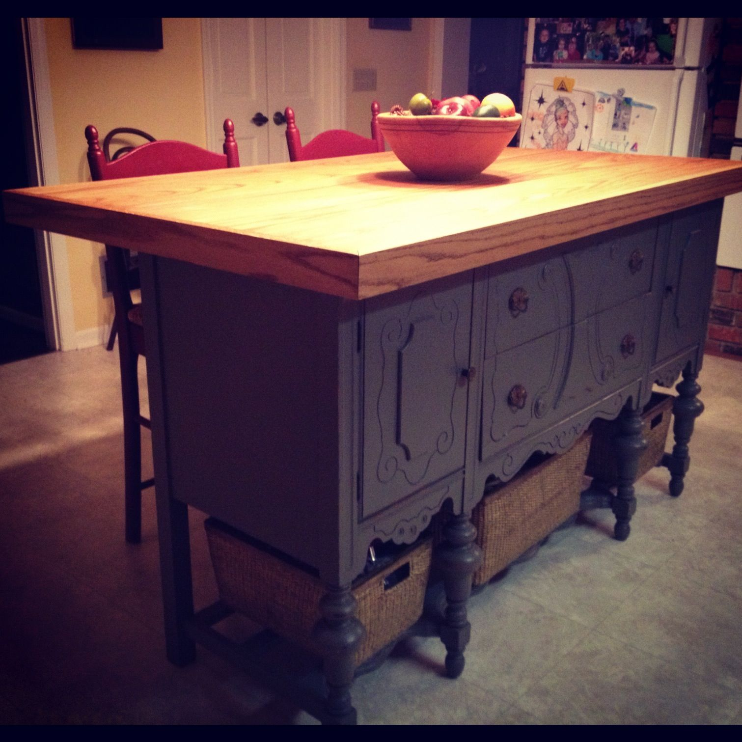 Best 25 Kitchen island made from antique buffet ideas on