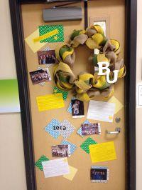 College Week door decorating contest -- #Baylor Proud! # ...