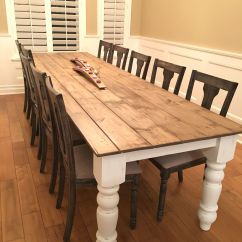 Farm House Kitchen Table Nook Ideas Diy Farmhouse My Husband Made 10 Foot 8 Inch
