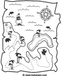 Pirate activities: FREE Treasure map, printable or