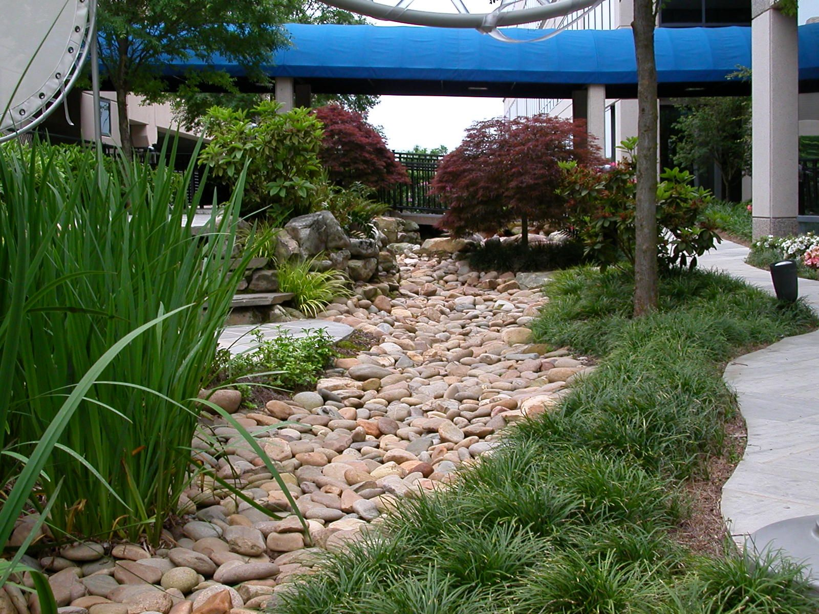Dry Creek Bed Created With Rock For Drainage Garden Things