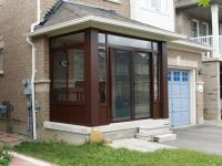 Conner porch enclosure at front of house | Porch ...