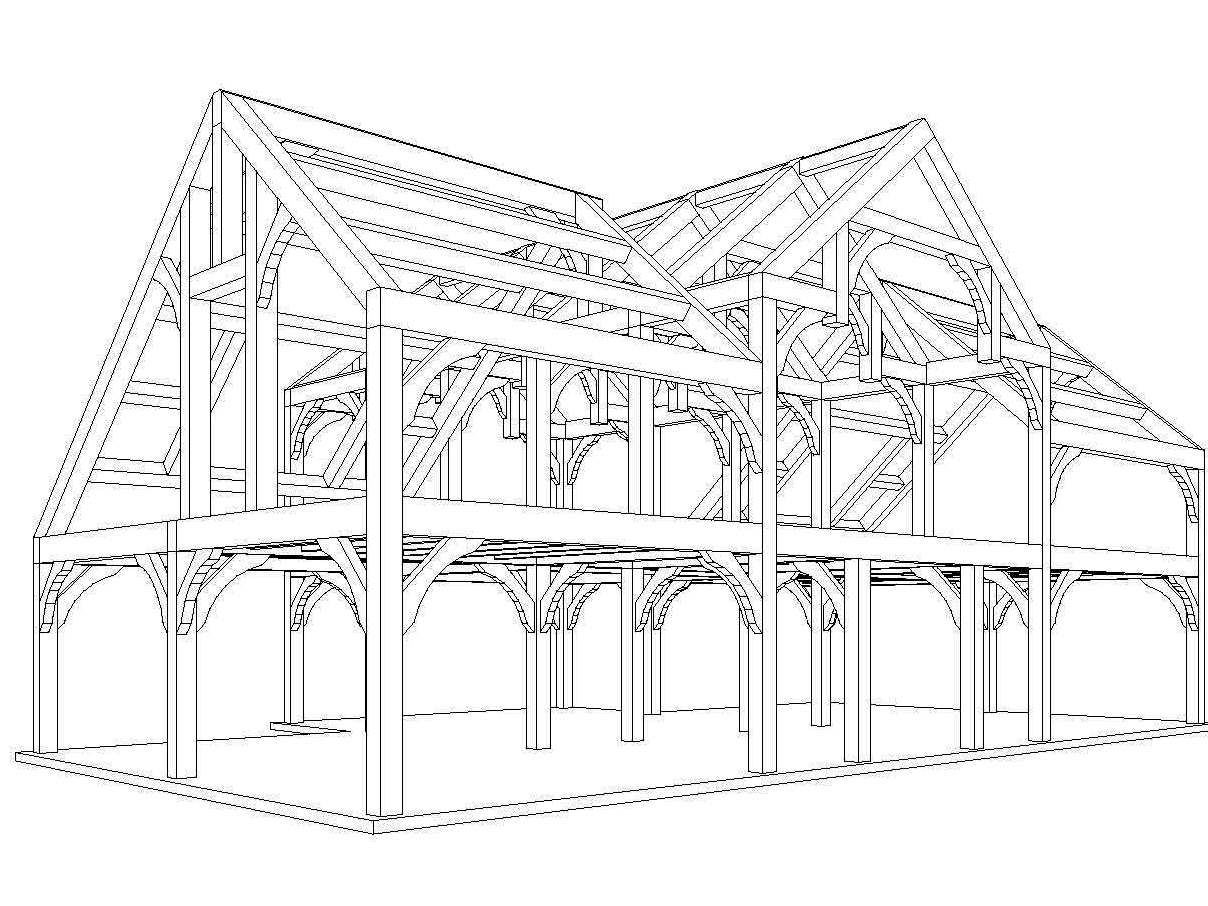Timber Frame Design Timber Frames Hold The Structure Of The
