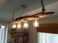 Driftwood Ceiling Light OnR070914 1 | Crafty crap ...