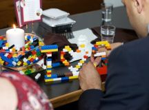 Lego wedding centerpiece! My idea exactly! I think we ...