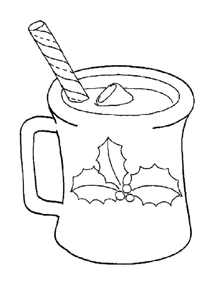hot cocoa of christmas coloring page  starbucks kids
