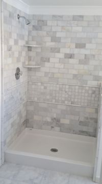 Best Bath shower pan with tile wall surround. | Bathroom ...