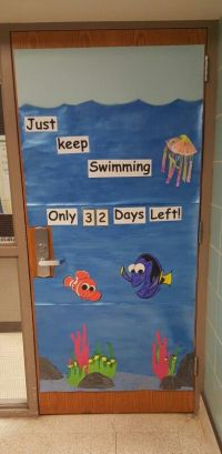 Classroom door! Countdown to summer break!