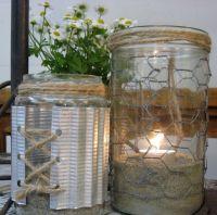 mason jar and chicken wire chandeliers   Jars with chicken ...