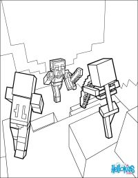 Dangerous Dungeon Fights coloring page from Minecraft ...