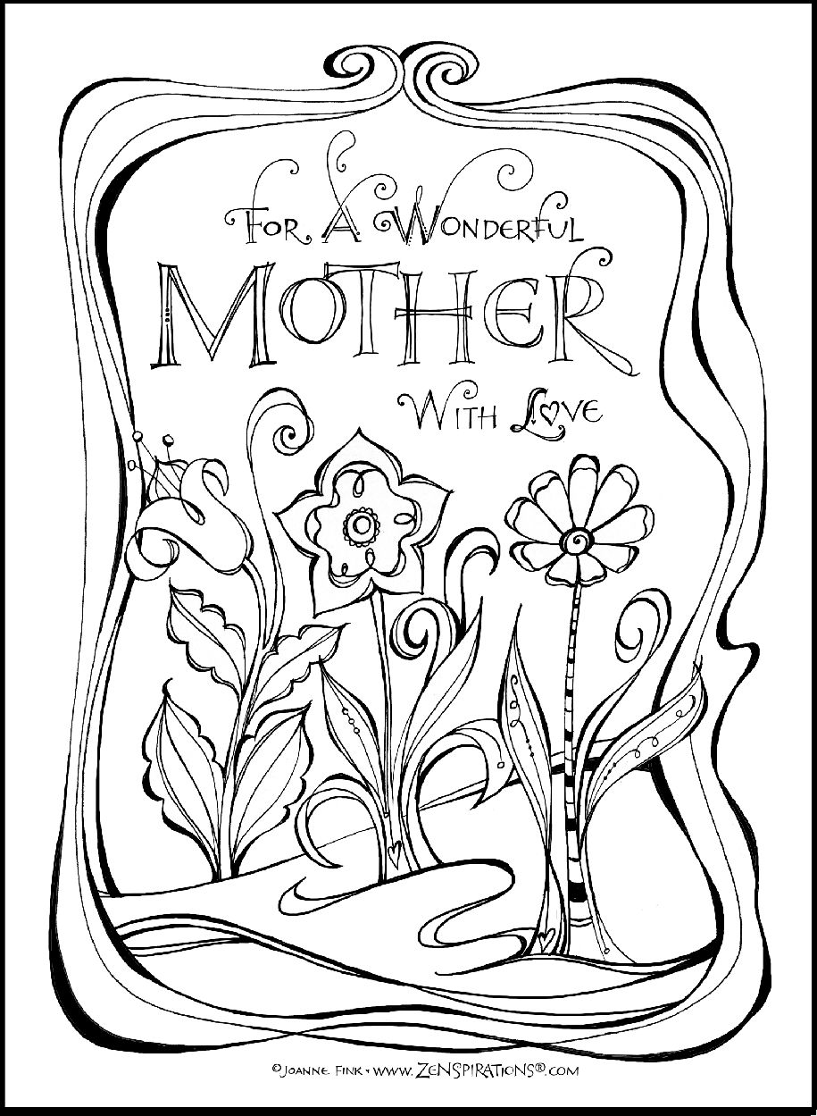 If you like to color, check out the FREE downloadable