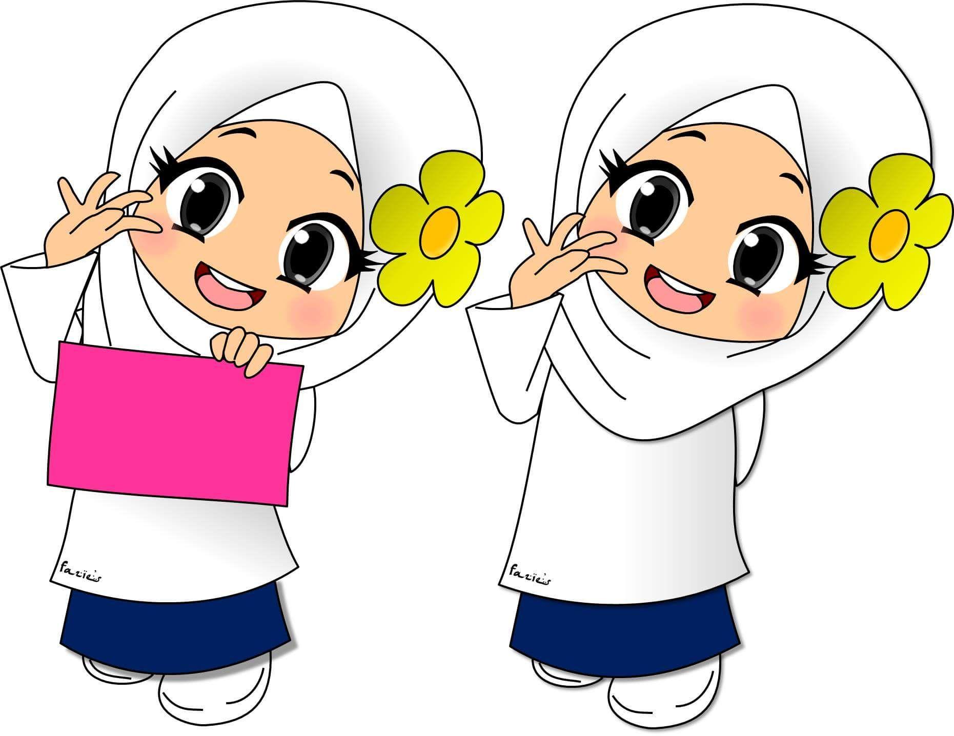 Ana Muslimah Cute Wallpaper Kartun Muslimah Penelusuran Google Campuran T