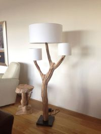 Floor Lamp manufacturing of weathered old oak on Natural ...