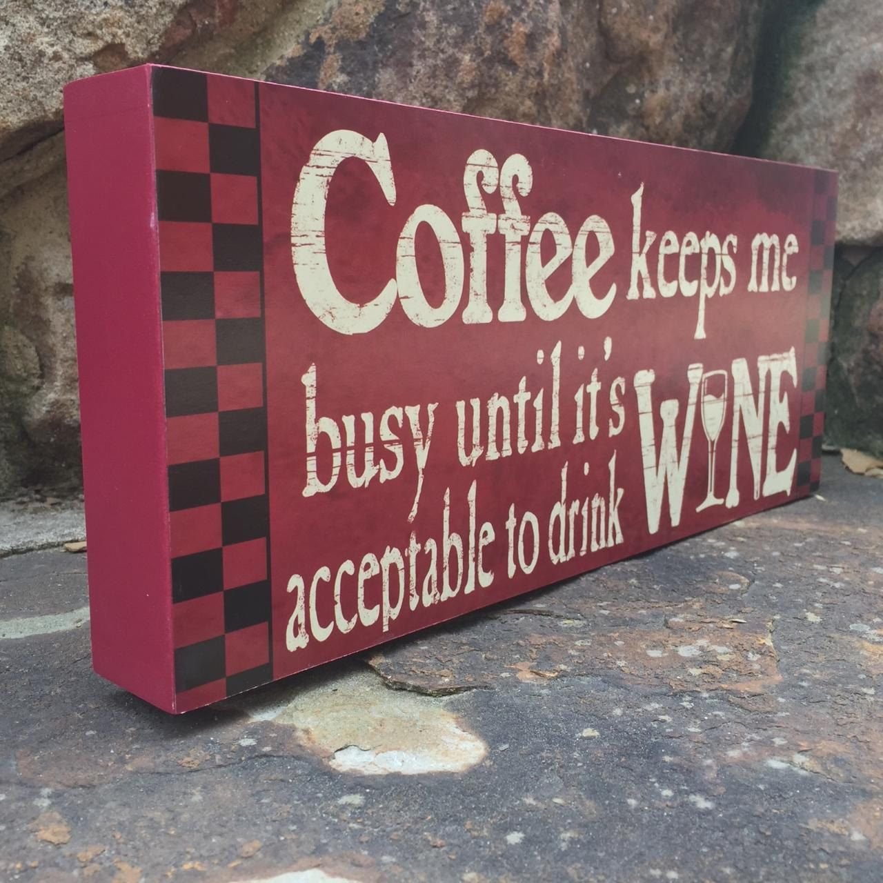 wooden signs for kitchen best undermount sink with quotes sayings about coffee funny wine
