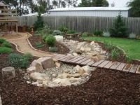 Dry Creek Bed For Yard on Pinterest | Landscaping ...