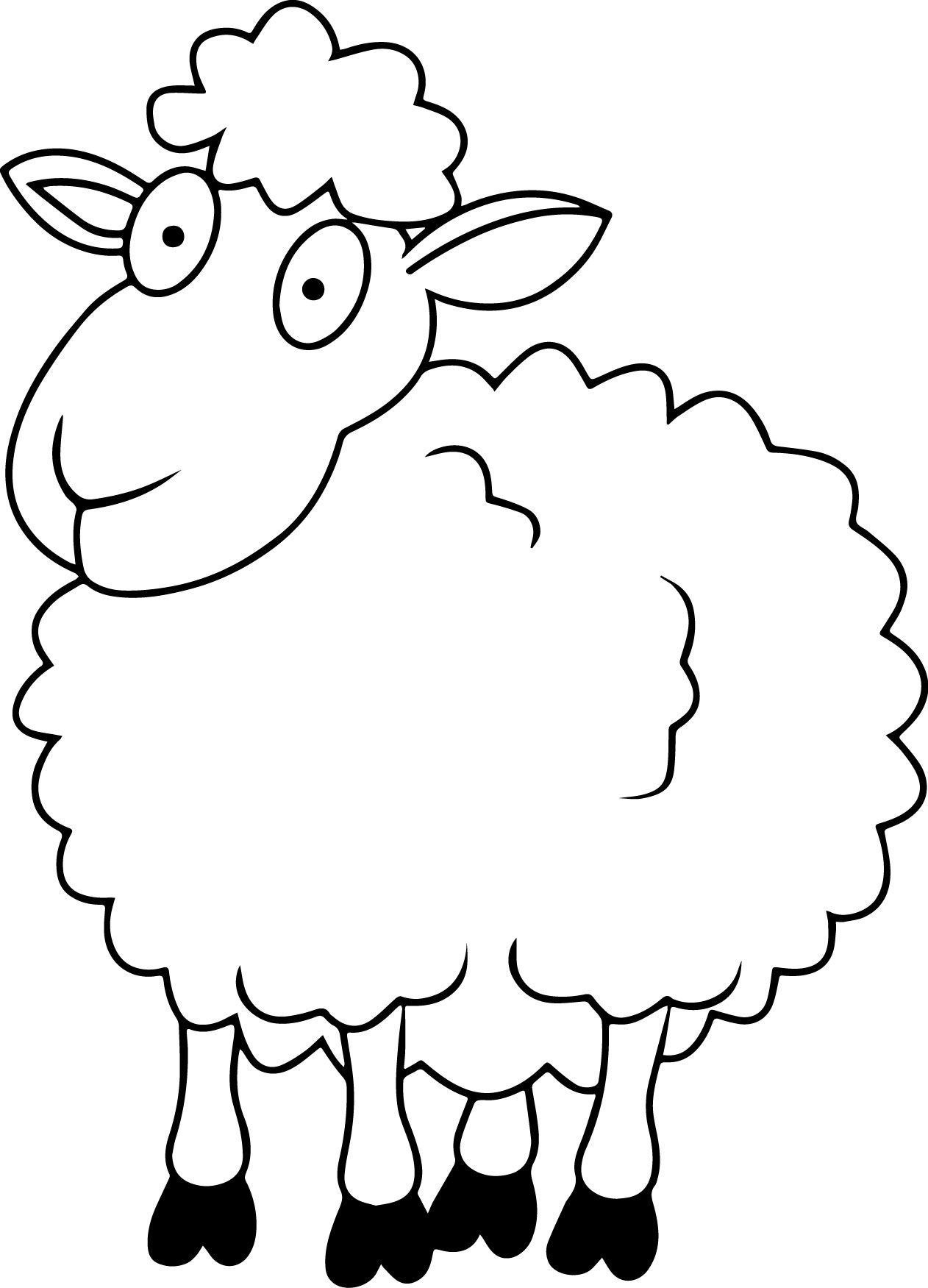 Sheep Coloring Pages Coloring Pages Pinterest