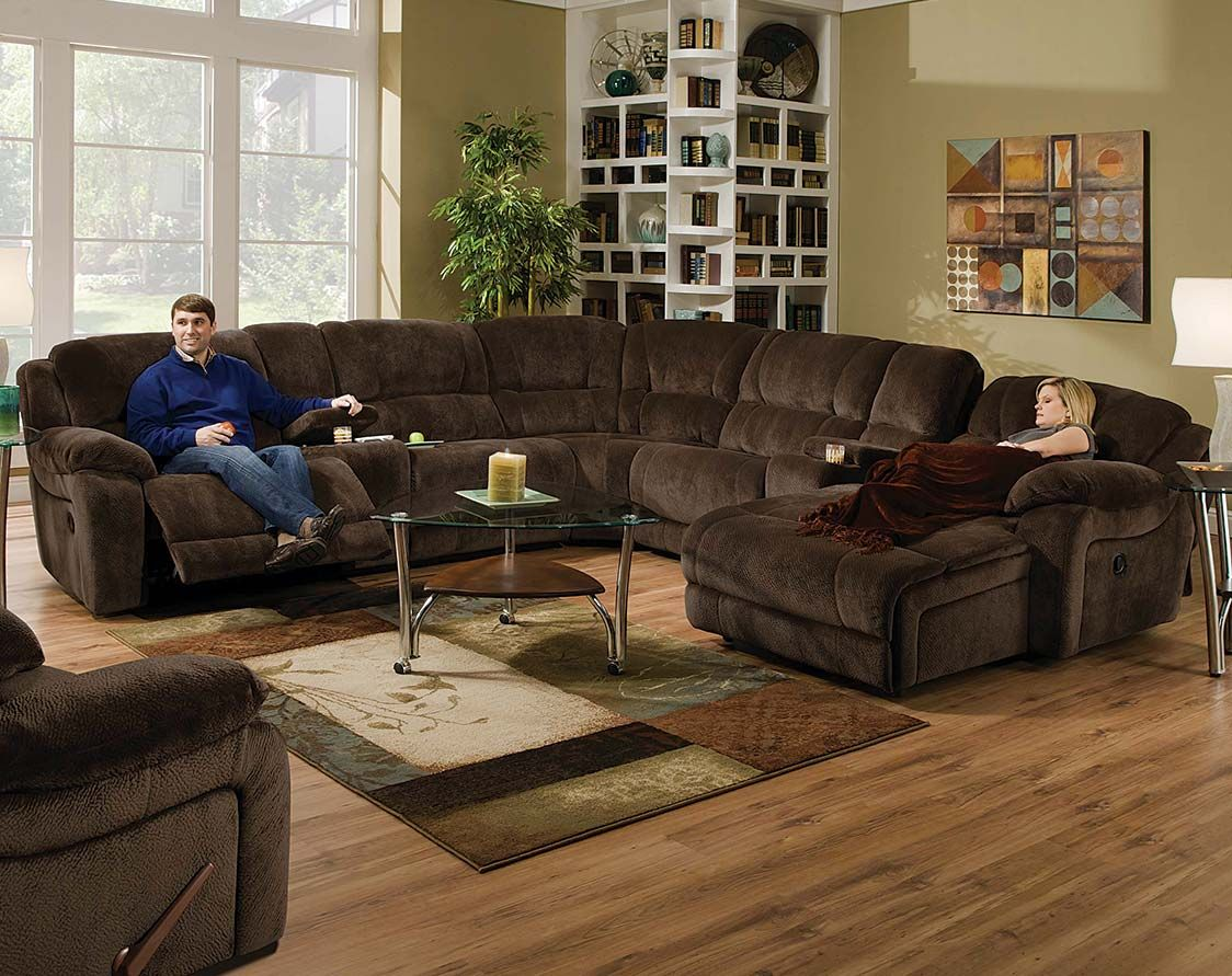 large plush sectional sofa jackson coronado brown wrap around couch championship chocolate reclining