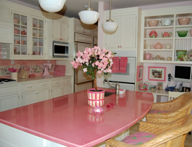 pink countertops kitchen granite kitchens ideas home decor