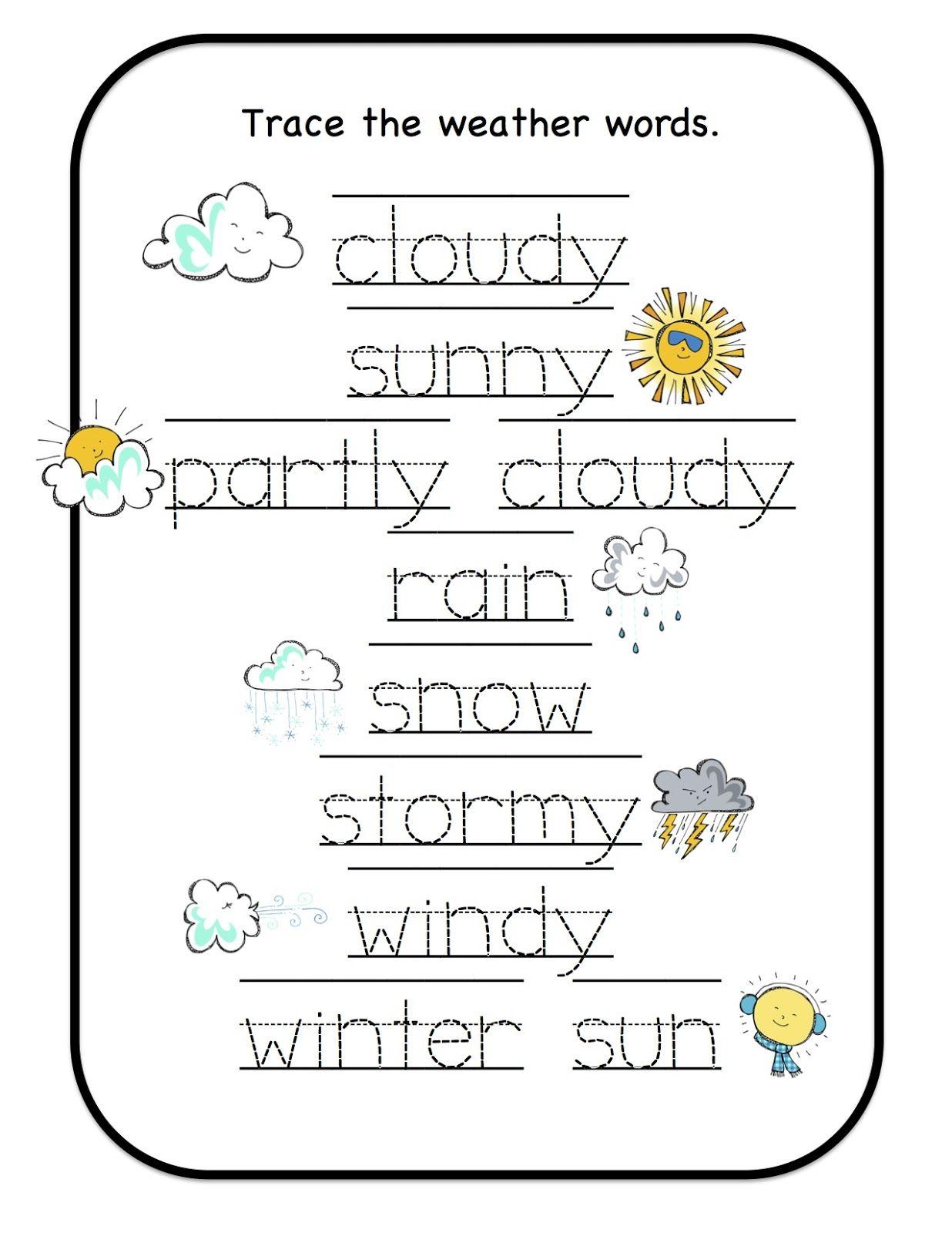 Preschool Printables Weather Cards