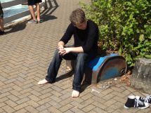 Pics Of Guys Barefoot In Public. Dirty