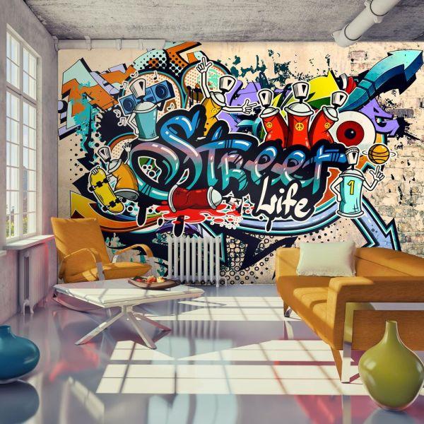Tapeta Streetart #streetart #hiphop #drekoracja #graffiti