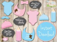 BABY SHOWER Photo booth Props | Baby shower | Pinterest ...