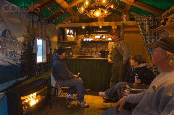 Gallery Ice Fishing Shanty Interior
