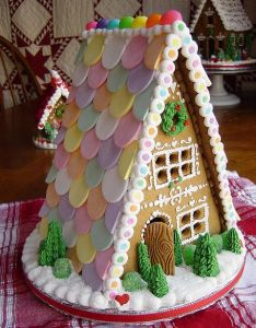 Gingerbread house  frame much easier for kids to put together and decorate also best images about houses on pinterest rh