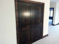 Prefer this super dark stained doors with dark wood trim ...