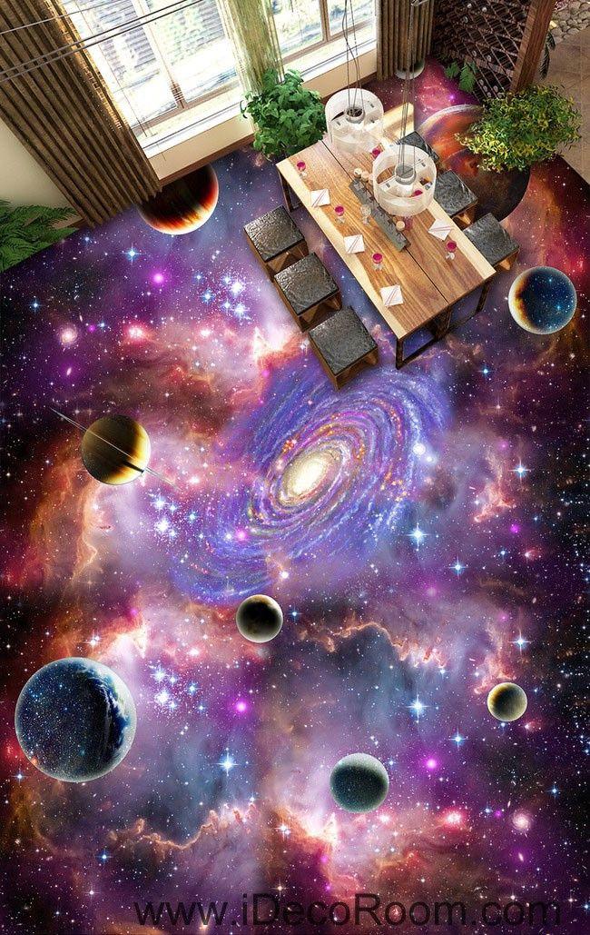 Universe Planet Nebula Galaxy 00075 Floor Decals 3D