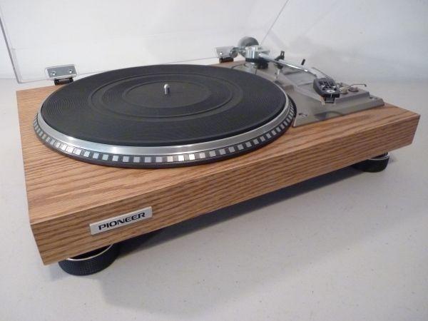 Restored Pioneer Pl-560 Turntable - Real Wood Red Oak Veneer Vintage Stereo Components