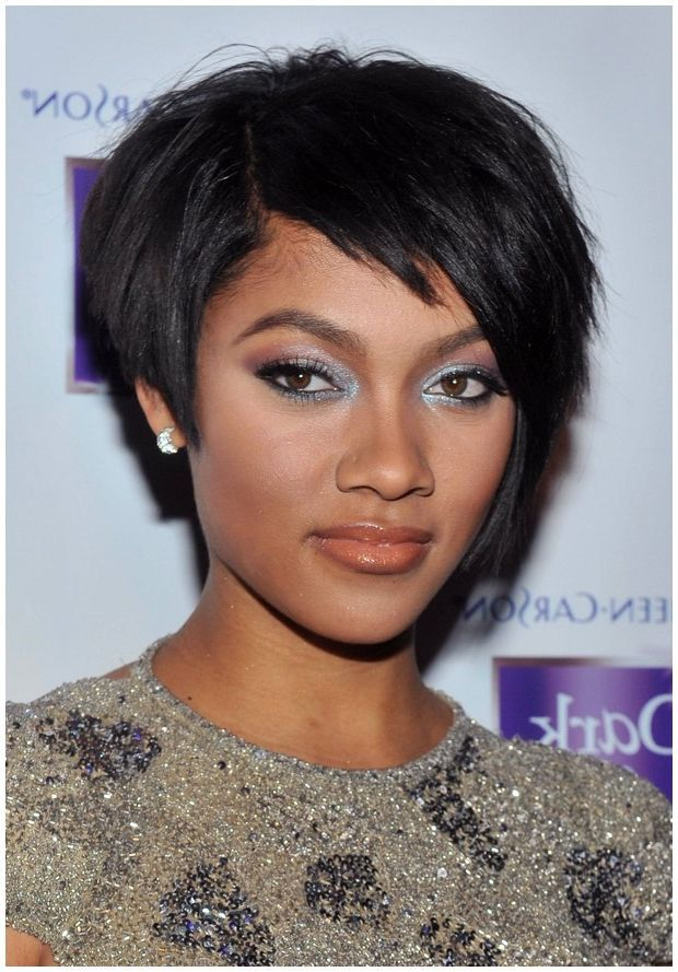 Short Hairstyles For Black Women For Round Faces Women