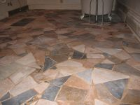 #rusticvermontweddings Upcycled mismatched tiles make a ...